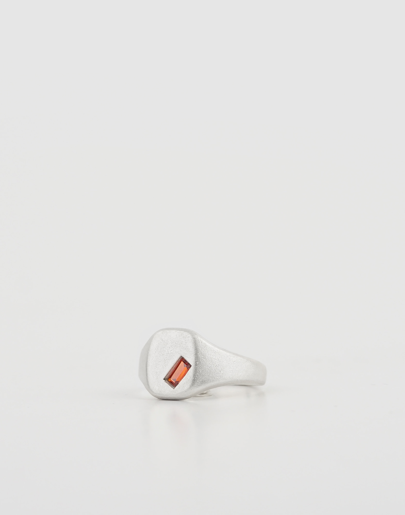 Signet ring(Red Orange Crystal)