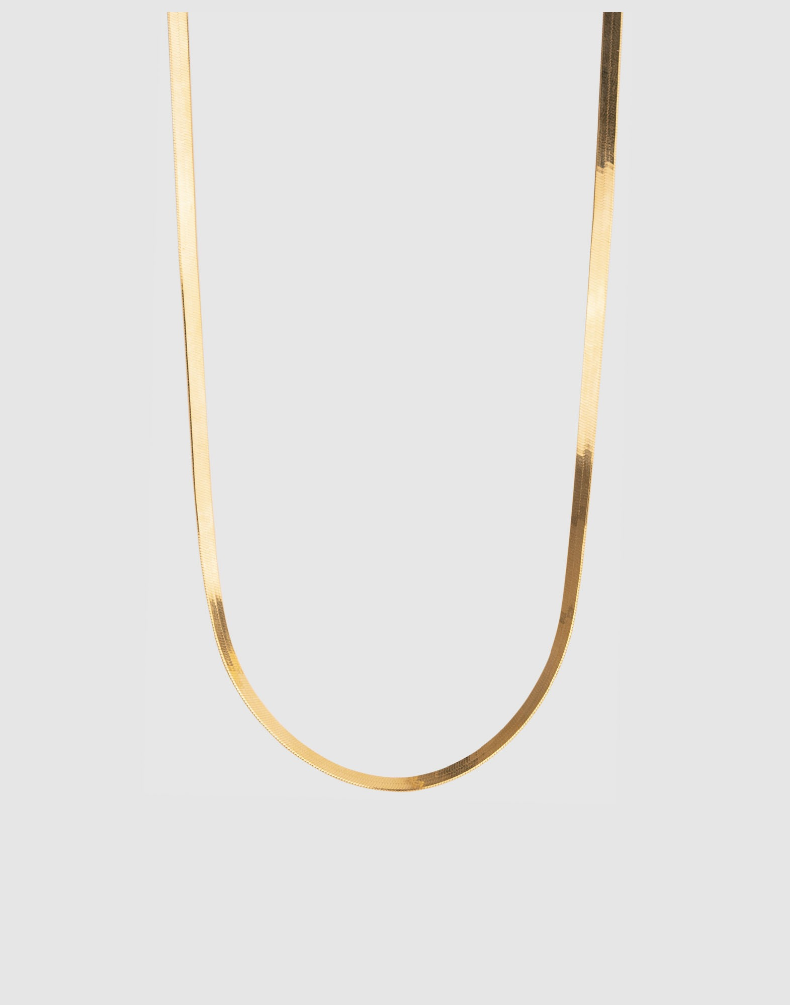 snake chain thin necklace (18k gold plated)