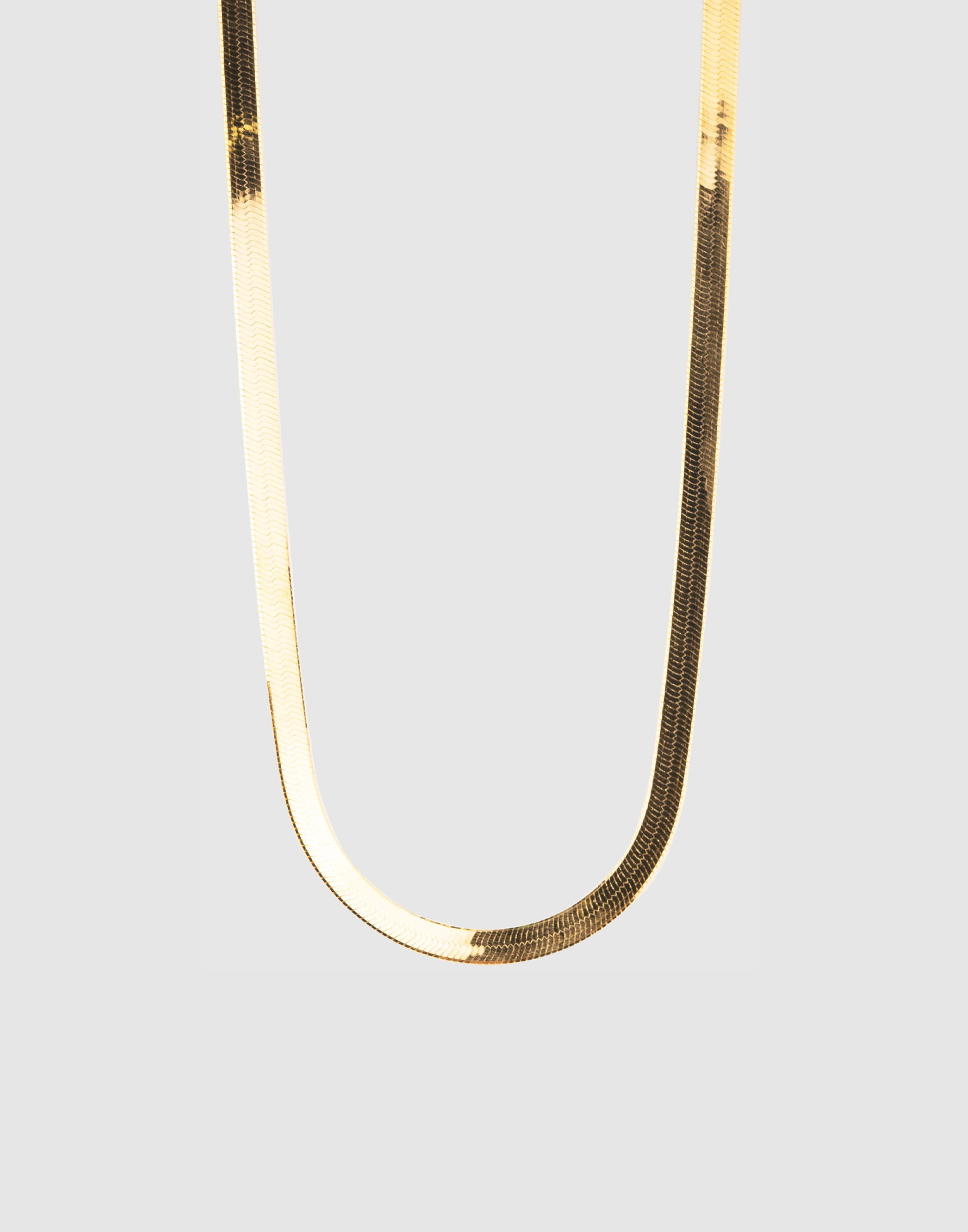 snake chain necklace (18k gold plated)
