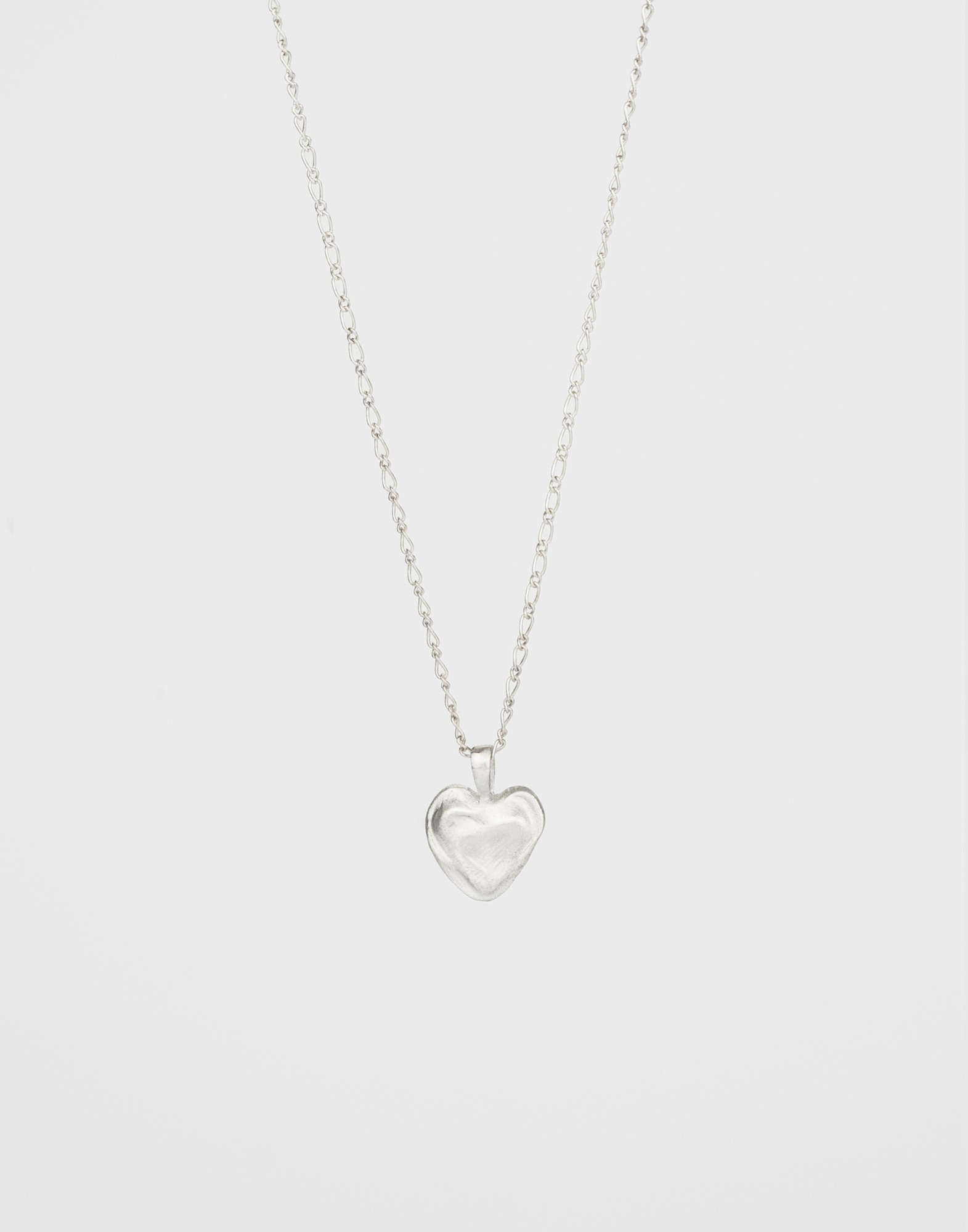 999 silver base heart necklace