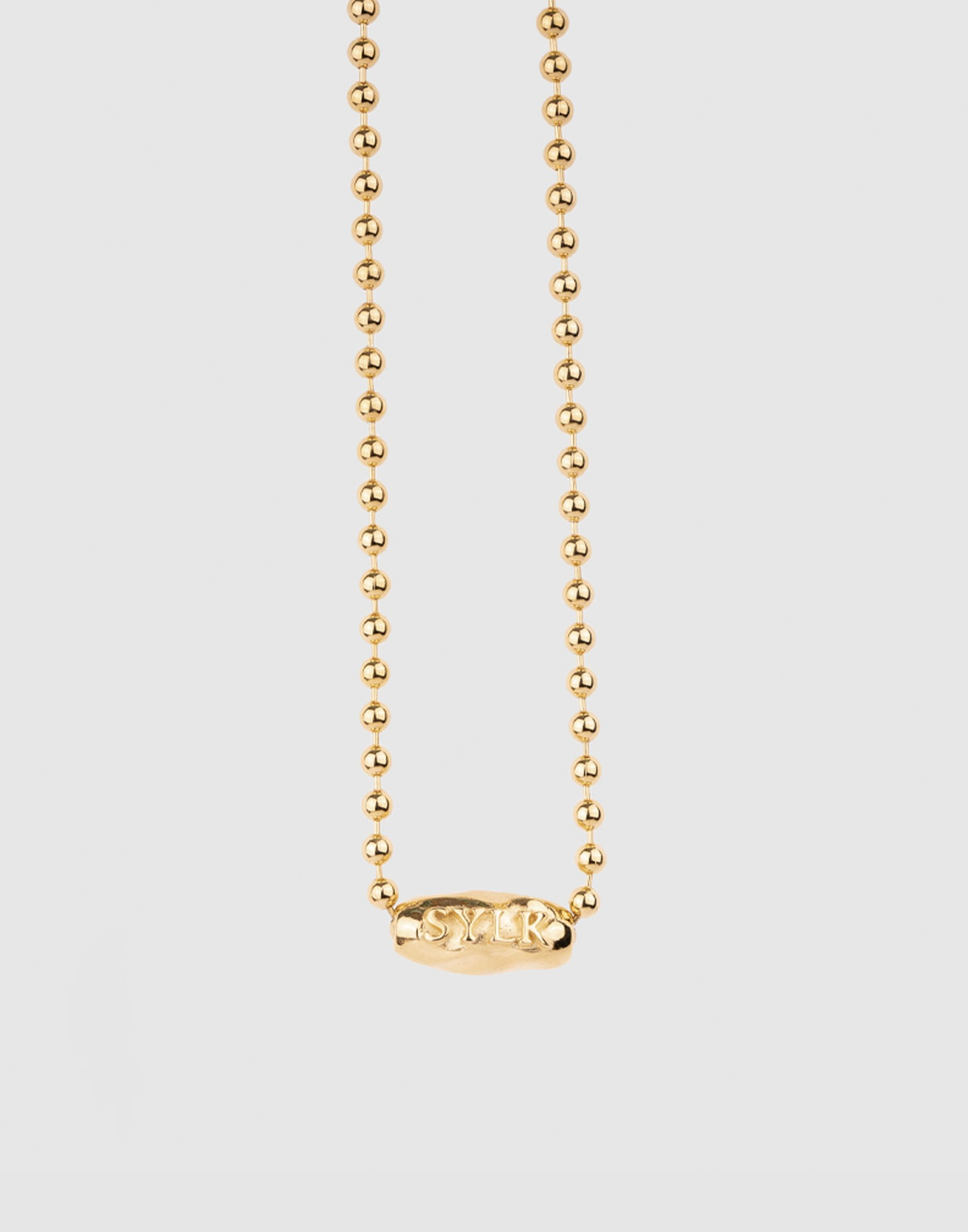 Omuamua ball chain choker(18k gold plated)