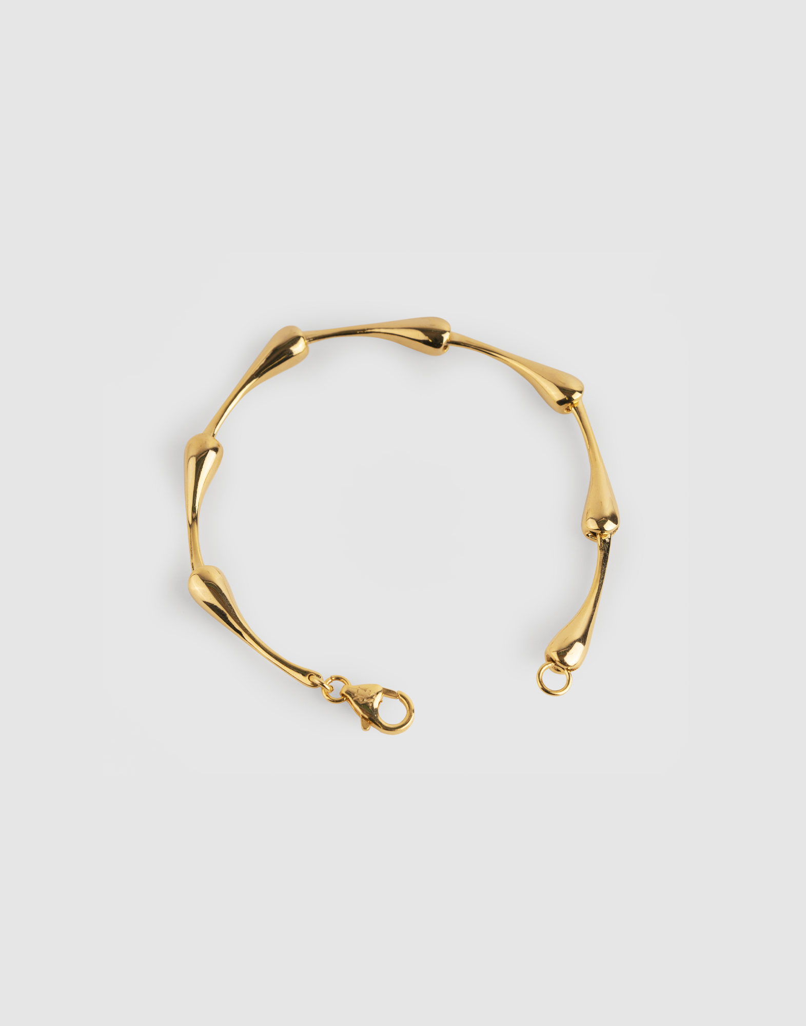 drop bracelet (18k gold plated)