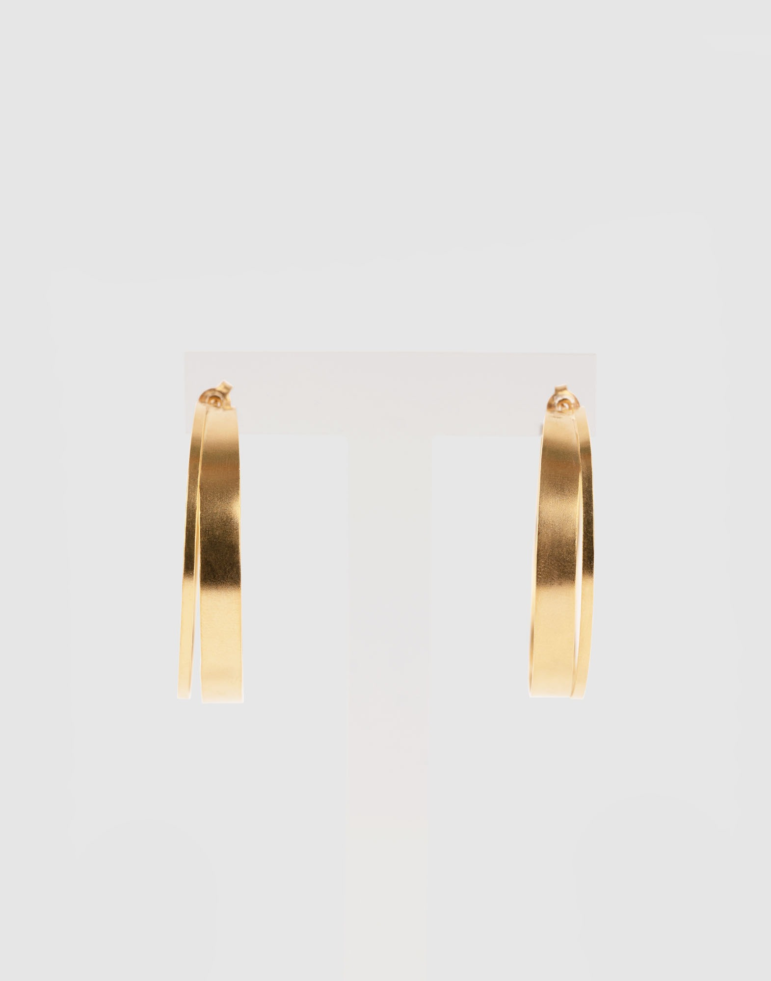 ring earring (18k gold plated)
