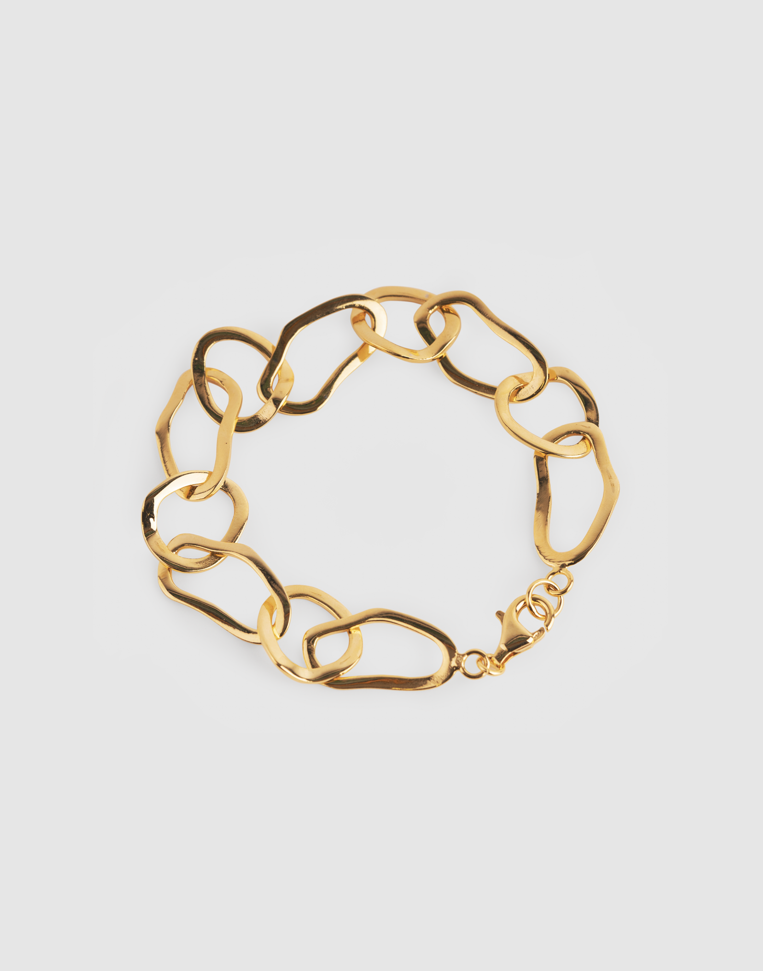 pebble gold bracelet