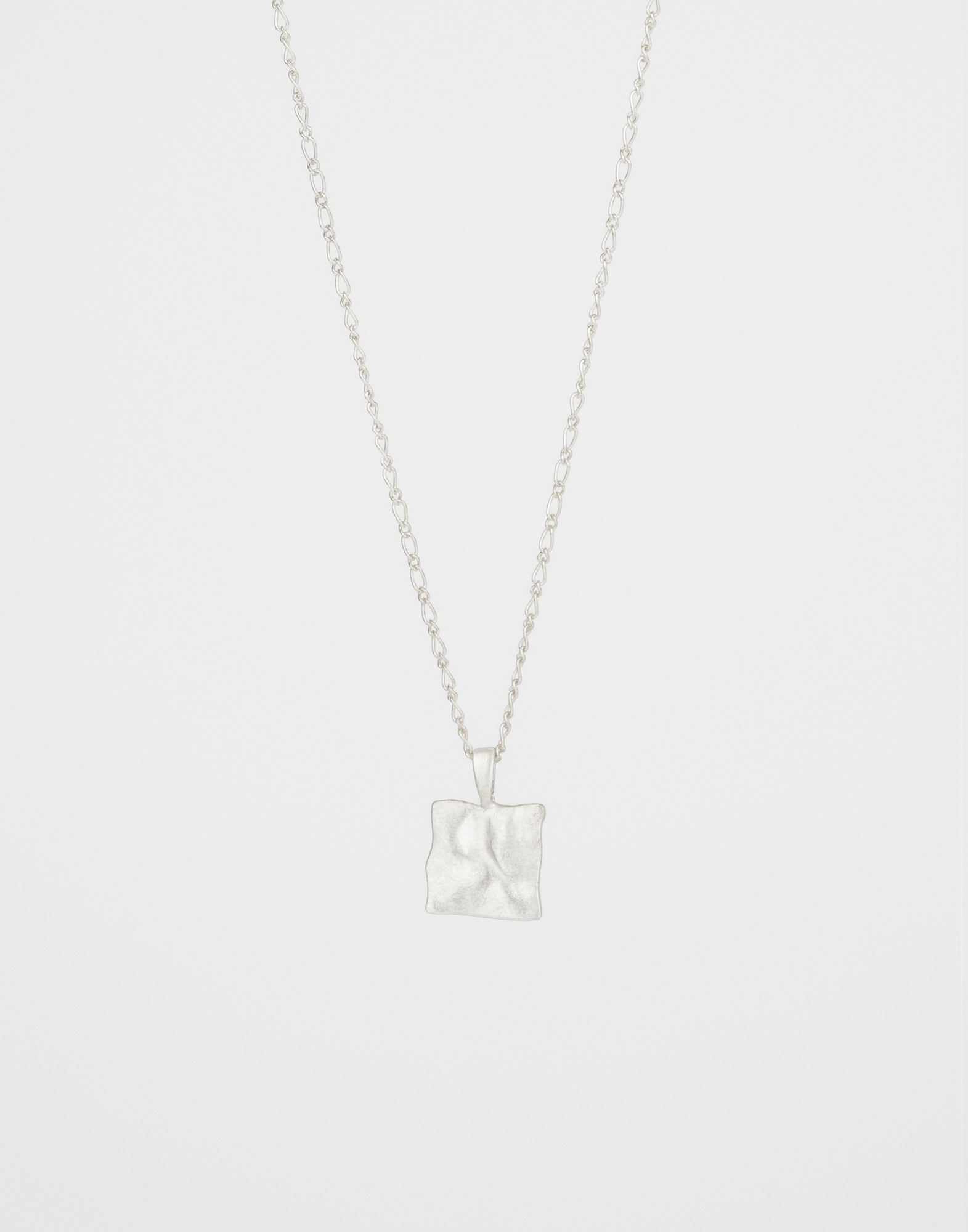 999 silver base square necklace